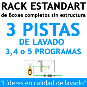 """RACK ESTANDART de Boxes completos para 3 PISTAS"""