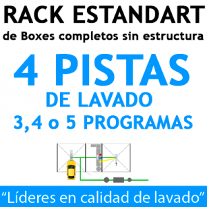 """RACK ESTANDART de Boxes completos para 4 PISTAS"""
