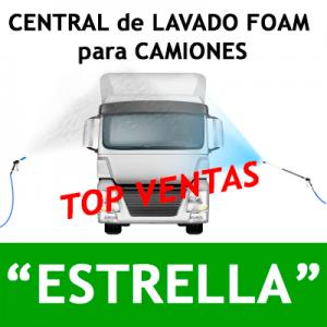 """""""CENTRAL DE LAVADO FOAM con descalcificador """"ESTRELLA"""" PARA CAMIONES"""""""
