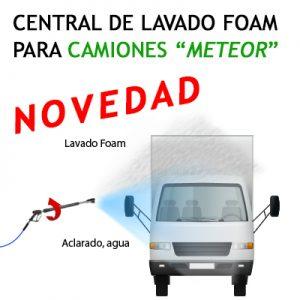 """""""CENTRAL DE LAVADO FOAM lanza doble """"METEOR"""" PARA CAMIONES"""""""