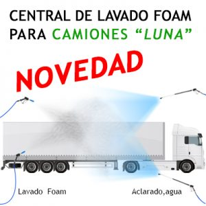 """""""CENTRAL DE LAVADO FOAM sin descalcificador """"LUNA"""" PARA CAMIONES"""""""