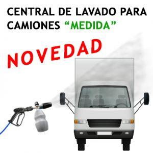"""""""CENTRAL DE LAVADO """"MEDIDA"""" PARA CAMIONES Opcional Foam y Cepillo Foam"""""""