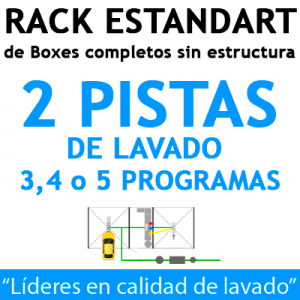 """RACK ESTANDART de Boxes completos para 2 PISTAS"""