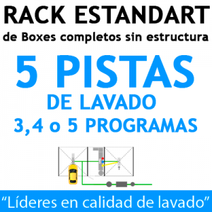 """RACK ESTANDART de Boxes completos para 5 PISTAS"""