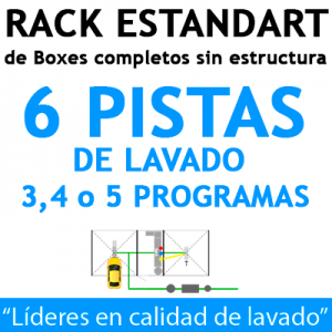 """RACK ESTANDART de Boxes completos para 6 PISTAS"""