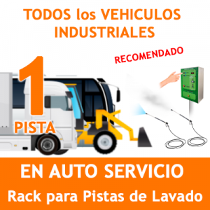 """""""RACK LAVADO DE VEHICULOS INDUSTRIALES DE TODO TIPO PARA 1 PISTA"""""""