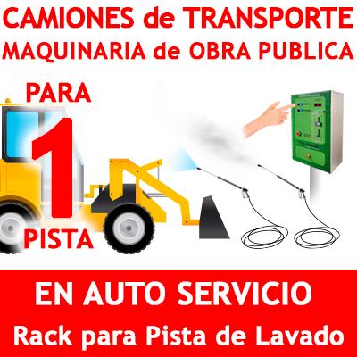 """""""RACK LAVADO CAMIONES DE TRANSPORTE Y OBRA PUBLICA PARA 1 PISTA"""""""
