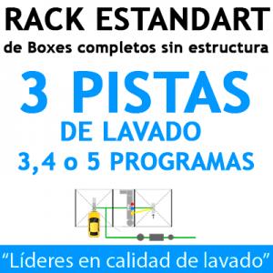 """""""RACK ESTANDART de Boxes completos para 3 PISTAS"""""""