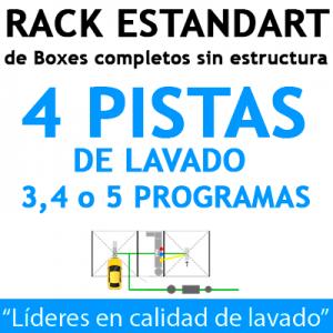 """""""RACK ESTANDART de Boxes completos para 4 PISTAS"""""""