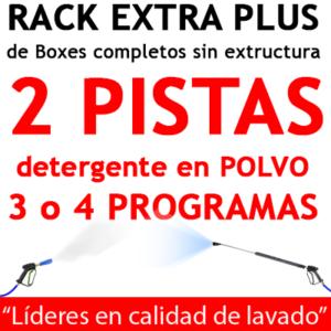 """""""RACK EXTRA PLUS de Boxes completos para 2 PISTAS detergente en POLVO"""""""