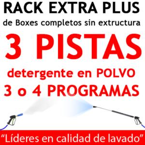 """""""RACK EXTRA PLUS de Boxes completos para 3 PISTAS Detergente en POLVO"""""""