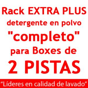 """""""RACK EXTRA PLUS """"completo"""": para Boxes de 2 PISTAS detergente en POLVO"""""""