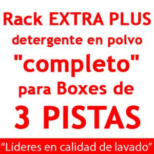 """""""RACK EXTRA PLUS """"completo"""": para Boxes de 3 PISTAS Detergente en POLVO."""""""