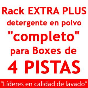 """""""RACK EXTRA PLUS """"completo"""": para Boxes de 4 PISTAS Detergente en POLVO."""""""