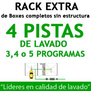 """RACK EXTRA de Boxes completos para 4 PISTAS"""