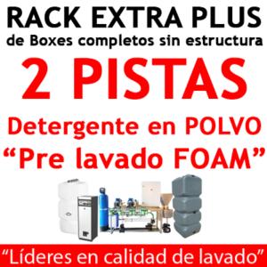 """""""RACK EXTRA PLUS de Boxes completos para 2 PISTAS detergente en POLVO."""""""