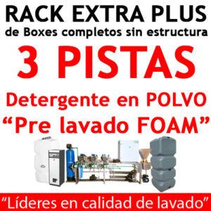 """""""RACK EXTRA PLUS de Boxes completos para 3 PISTAS Detergente en POLVO."""""""