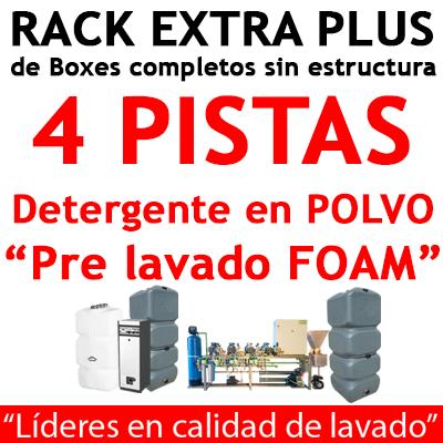 """""""RACK EXTRA PLUS de Boxes completos para 4 PISTAS Detergente en POLVO."""""""