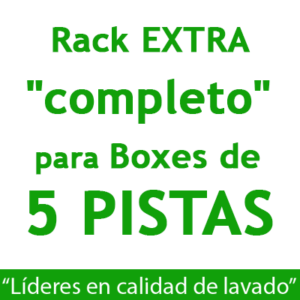 """RACK EXTRA ""completo"": para Boxes de 5 PISTAS."""