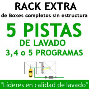 """RACK EXTRA de Boxes completos para 5 PISTAS"""
