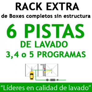 """RACK EXTRA de Boxes completos para 6 PISTAS"""
