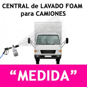 """""""CENTRAL DE LAVADO para CAMIONES Opcional: Foam y Cepillo Foam"""""""