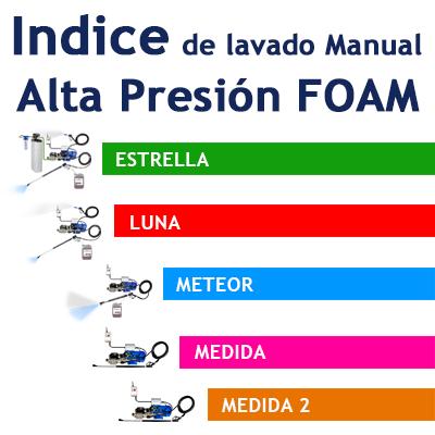 """""""Indice de Lavado Manual Alta Presión FOAM para Camiones"""""""