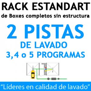 """""""RACK ESTANDART de Boxes completos para 2 PISTAS"""""""