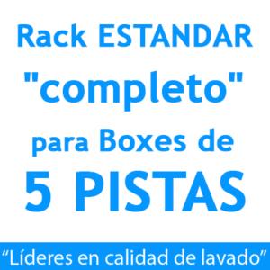 """RACK ESTANDAR ""completo"": para Boxes de 5 PISTAS."""