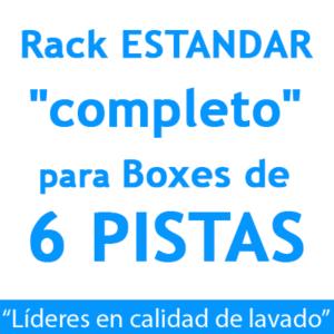 """RACK ESTANDAR ""completo"": para Boxes de 6 PISTAS."""