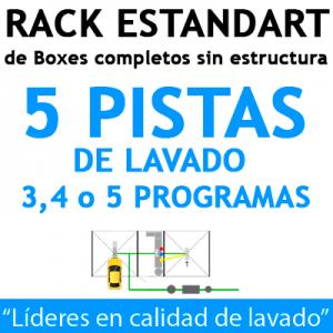 """""""RACK ESTANDART de Boxes completos para 5 PISTAS"""""""