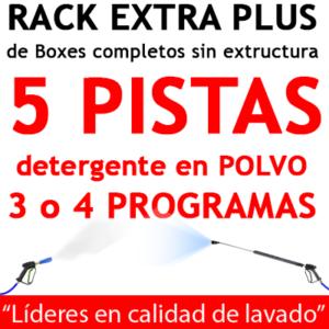 """""""RACK EXTRA PLUS de Boxes completos para 5 PISTAS Detergente en POLVO"""""""
