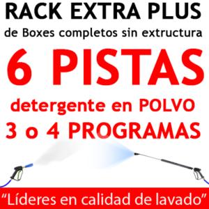 """""""RACK EXTRA PLUS de Boxes completos para 6 PISTAS Detergente en POLVO"""""""