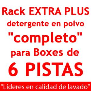 """""""RACK EXTRA PLUS """"completo"""": para Boxes de 6 PISTAS Detergente en POLVO."""""""