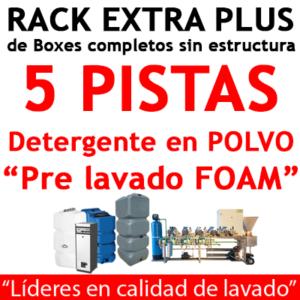 """""""RACK EXTRA PLUS de Boxes completos para 5 PISTAS Detergente en POLVO."""""""