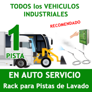 """""""RACK LAVADO DE VEHICULOS INDUSTRIALES DE TODO TIPO PARA 1 PISTA."""""""