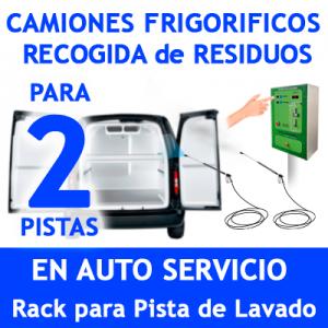 """""""RACK LAVADO DE CAMIONES FRIGORIFICOS Y RECOGIDA DE RESIDUOS PARA 2 PISTAS."""""""
