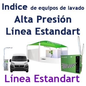 """""""Guía de equipos de lavado línea Estandart"""""""
