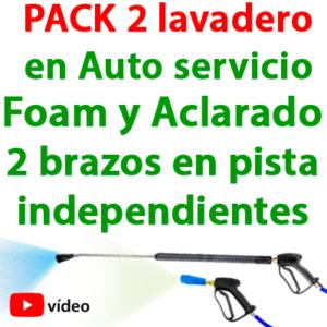 """""""PACK-2 Lavadero en Auto-Servicio. Foam y Aclarado 2 brazos en pista independientes"""""""