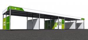 """""""Sala técnica STANDART para 4 pistas de lavado con agua caliente y tratamiento de agua Tecowash"""""""
