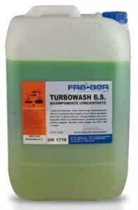 """Turbowash B.S. Bicomponente 25Kg desengrasante para camiones de baja espuma"""